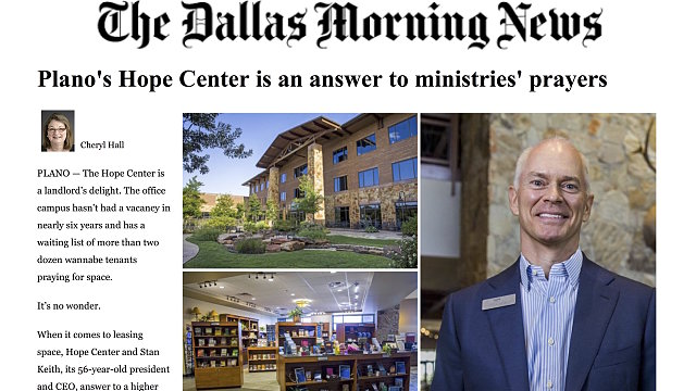 The Dallas Morning News Features The Hope Center